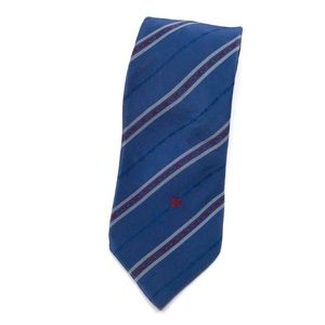 Celine | Vintage blue and red striped silk tie